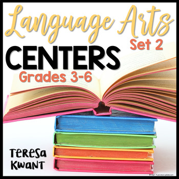 Language Arts Centers for 3rd, 4th, 5th, and 6th Grade Set 2