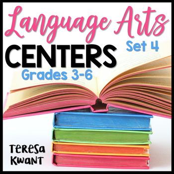 Literacy Centers for 3rd, 4th, 5th, and 6th Grade Set 4