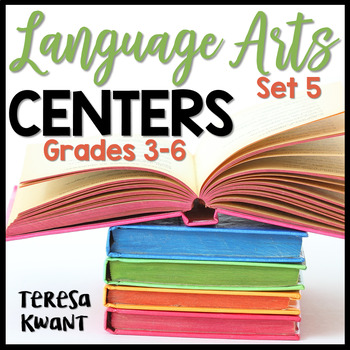 Literacy Centers for 3rd, 4th, 5th, and 6th Grade Set 5