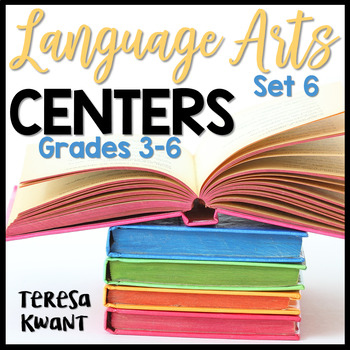 Literacy Centers for 3rd, 4th, 5th, and 6th Grade Set 6