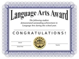Language Arts Certificate