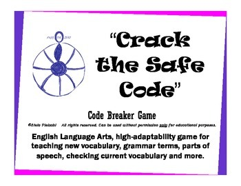 Language Arts Code Breaker - new vocabulary & reviews, synonyms, antonyms & more