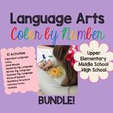 Language Arts Color by Number Bundle