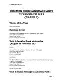 Common Core Language Arts Curriculum Map - Grade 8