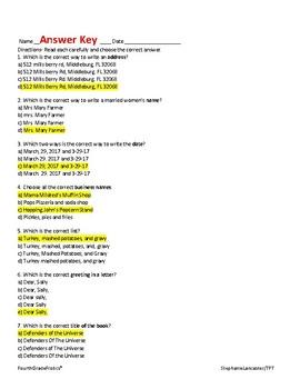 Language Arts Common Core Test Review