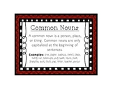 Language Arts Common Noun Task Cards Center
