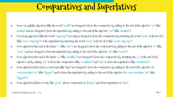 Language Arts - Comparatives and Superlatives - Entreprene