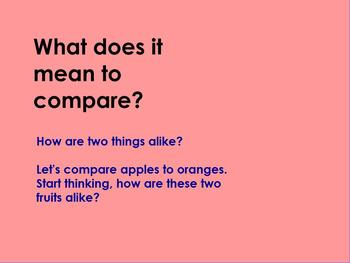 Language Arts Compare and Contrast Lesson