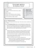 Language Arts Comprehension Check:Ten Sentence Format