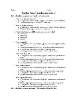 Language Arts/Comprehension Review