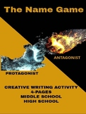 Creative Writing Activity - The Name Game