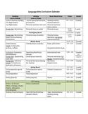 Language Arts Curricular Calendar Grades 2-3