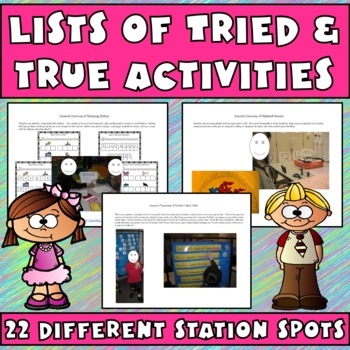 Language Arts Stations/Centers:Posters, Instructions, & Curriculum Map