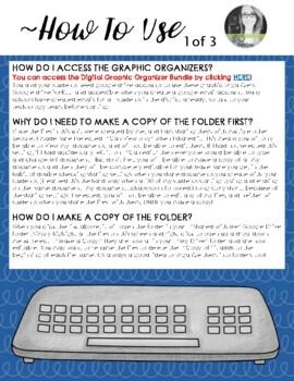 Language Arts DIGITAL Graphic Organizers (Growing Google Drive Bundle)