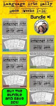 Language Arts Daily Dose Bundle #1 {Weeks 1-16}