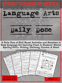Language Arts Daily Dose FULL FREE SAMPLE WEEK 1