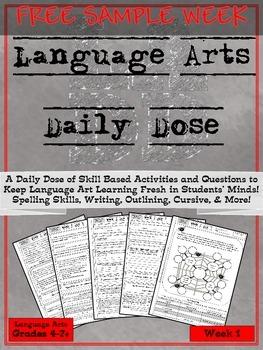 Language Arts Daily Dose FULL FREE SAMPLE WEEK 1