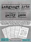 Language Arts Daily Dose {Weeks 1-4}