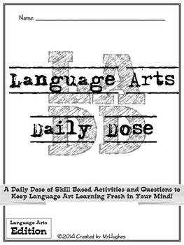 Language Arts Daily Dose {Weeks 13-16}