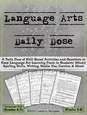 Language Arts Daily Dose | ELA Daily Review | Weeks 5-8
