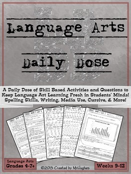 Language Arts Daily Dose {Weeks 9-12}