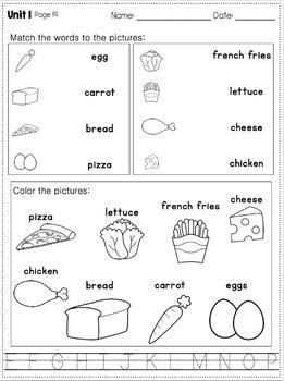 Language Arts Daily Work for Kindergarten