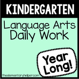 Language Arts Daily Work for Kindergarten