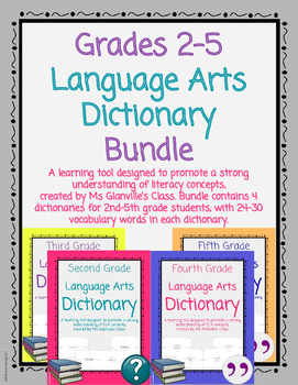 Language Arts Dictionary Bundle