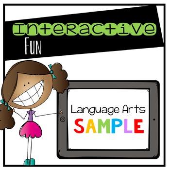 Language Arts Digital Interactive Sample