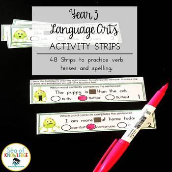 Language Arts Dry Erase Strips Year 3