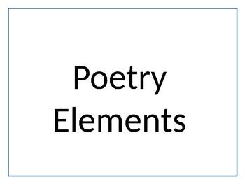 Language Arts Elements Bulletin Board