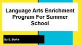Language Arts Enrichment Activity For Summer School - pdf