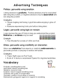 Language Arts: Evaluating and Analyzing Advertisements