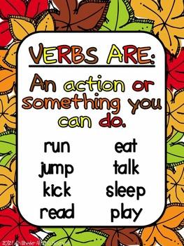 Fall Fun: Verbs Freebie