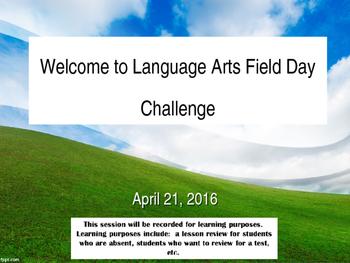 Language Arts Field Day