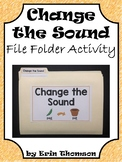 Language Arts File Folder Activity ~ Change the Sound