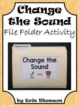 Language Arts File Folder Activity ~ Change the Sound