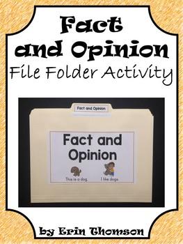 Language Arts File Folder Activity ~ Fact and Opinion