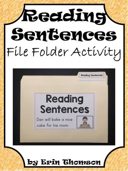 Language Arts File Folder Activity ~ Reading Sentences