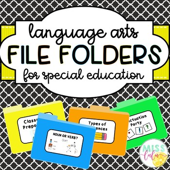Language Arts File Folders for Special Education
