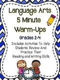 Language Arts - Five Minute Warm-Ups