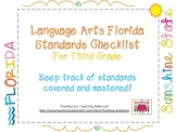 Language Arts Florida Standards Checklist for Third Grade