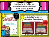 Language Arts Florida Standards (LAFS) 2nd Grade Checklist & Task Cards Bundle