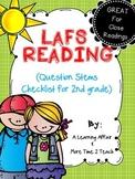 Language Arts Florida Standards (LAFS) 2nd Grade Question Stems Checklist