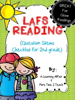 Language Arts Florida Standards (LAFS) 2nd Grade Question Stems Checklist