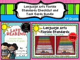 Language Arts Florida Standards (LAFS) 3rd Grade Checklist & Task Cards Bundle