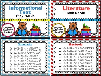 Language Arts Florida Standards (LAFS) 3rd Grade Task Cards