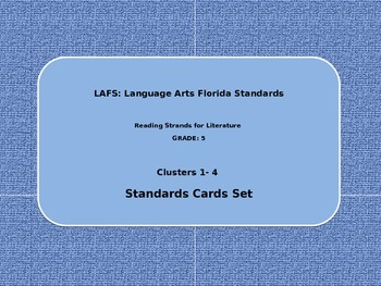 Language Arts Florida Standards ( LAFS) - Literature- Grade 5