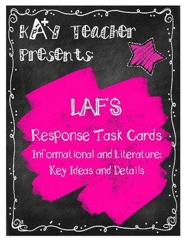 LAFS Reading Response Cards (Fiction and Non-Fiction): Key Ideas and Details