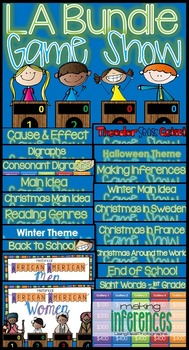 * Language Arts GAME SHOW BUNDLE 1st, 2nd, 3rd Grade
